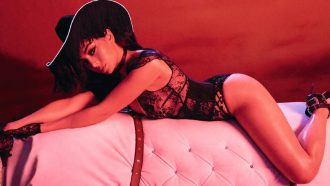 Charli XCX, lingerie, cowgirl, agent provocateur