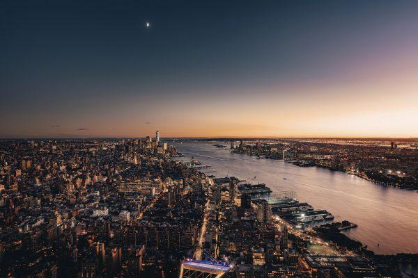 the edge, buitendek, glas, new york, architectuur, travel