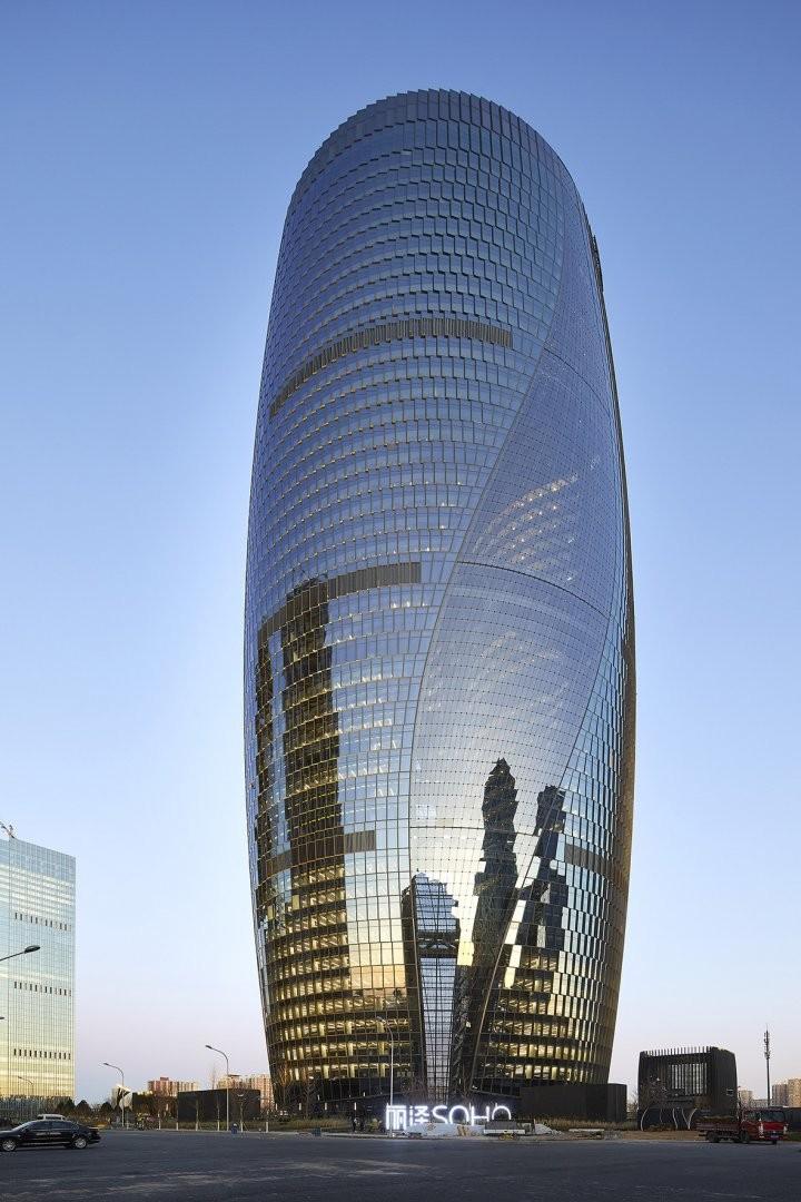 zaha hadid architects, leeza soho tower, fotos, beijing, architectuur