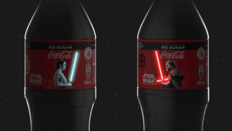 star wars, coca-cola, flesjes, oled- lightsaber, inuru, design