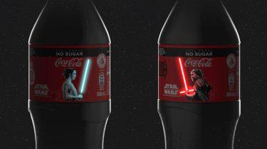 star wars, coca-cola, flesjes, oled- lightsaber, inuru, design