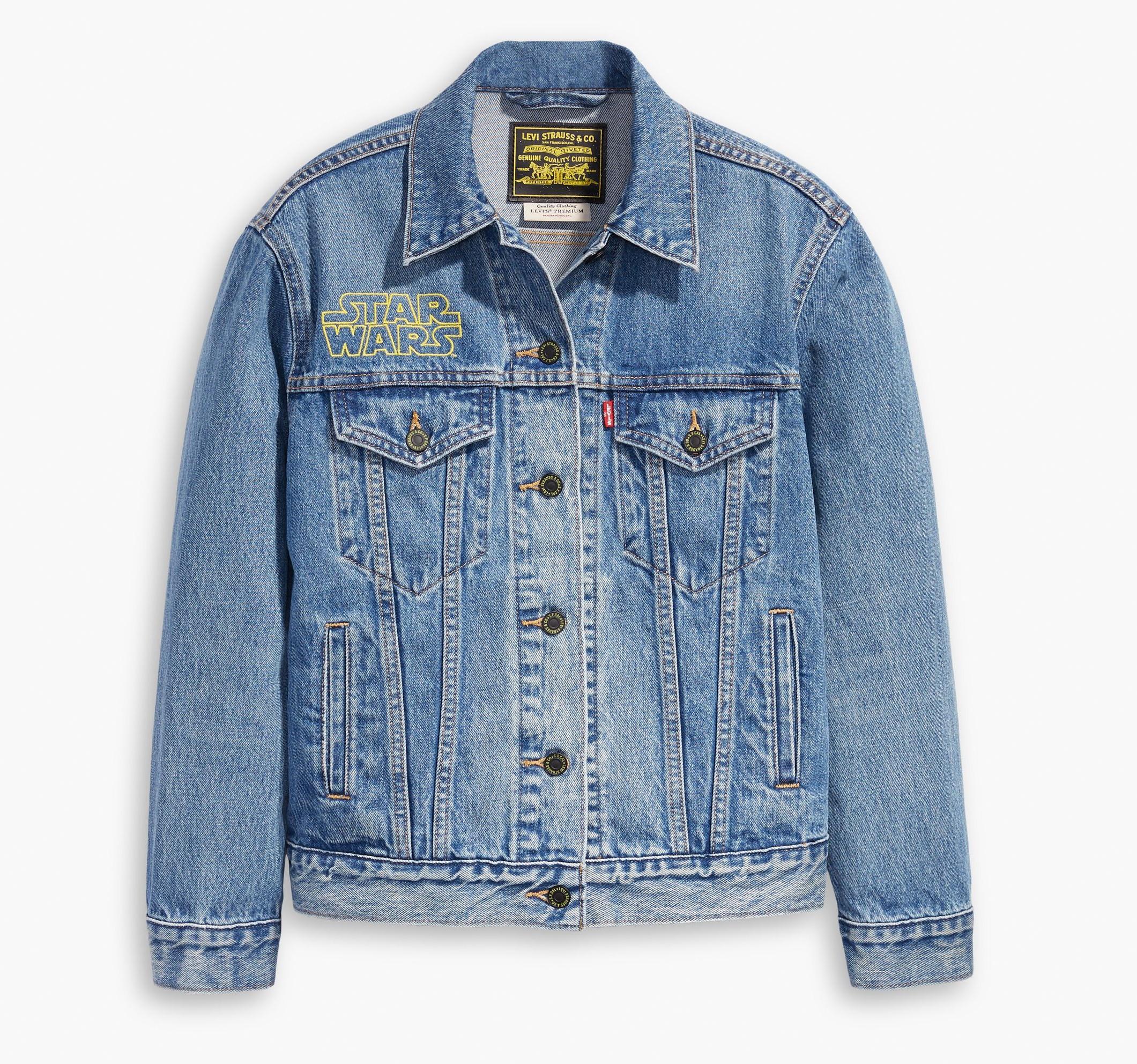 star wars, levi's, spijker jack, trucker denim jacket