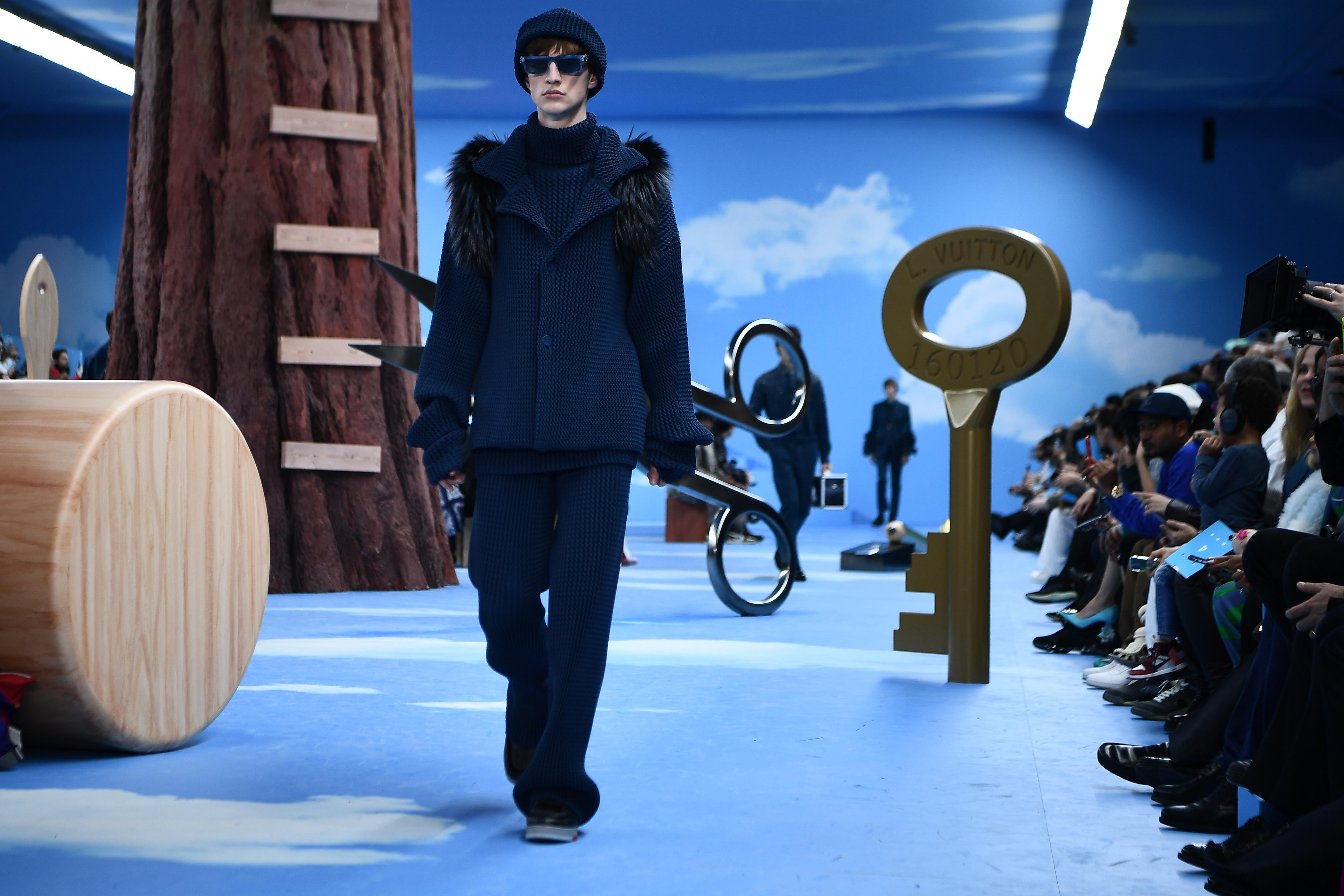 virgil abloh, louis vuitton, wolken, paris fashion week
