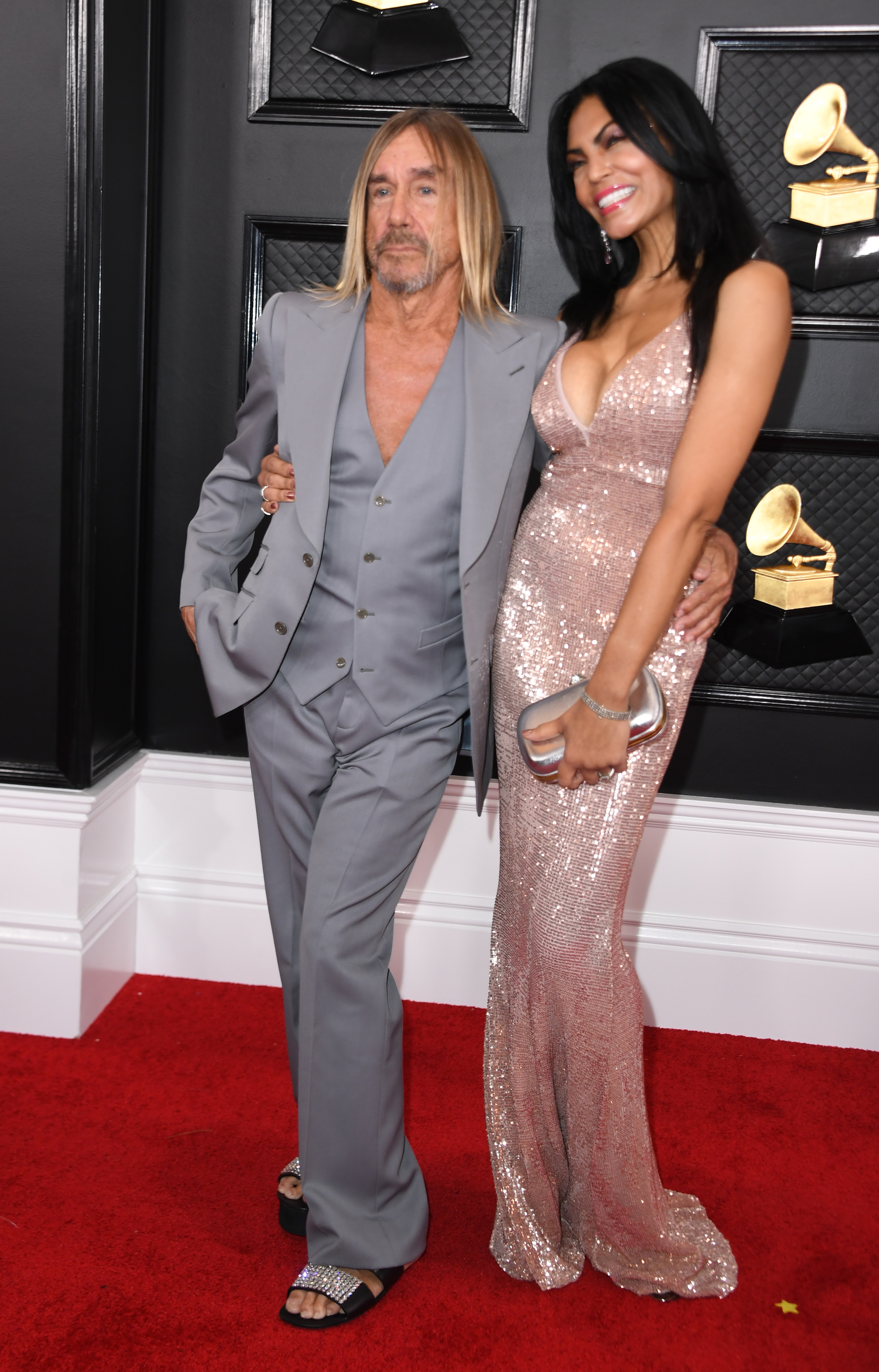 Iggy Pop and his wife Nina Alu