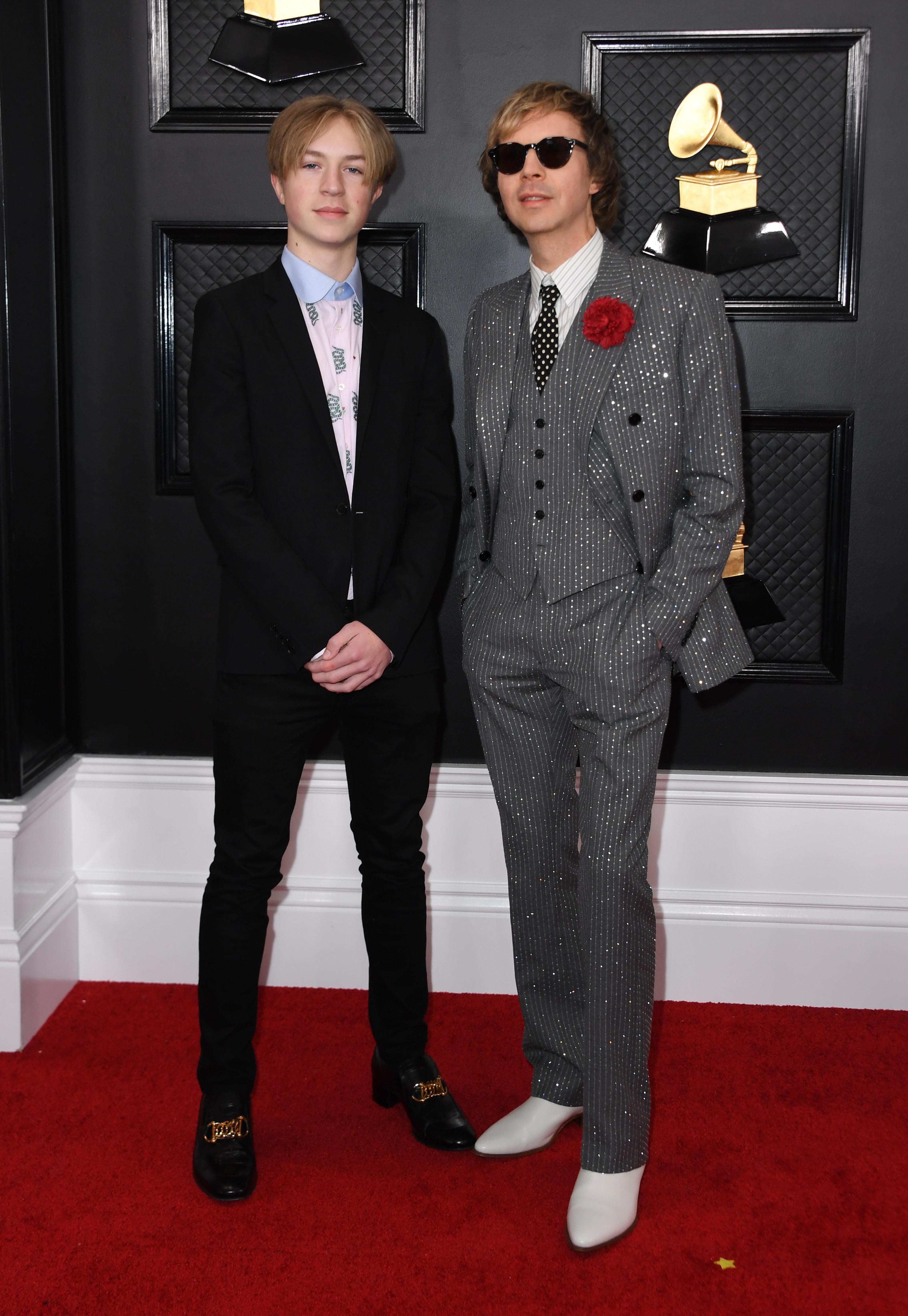 Beck and his son Cosimo Hansen