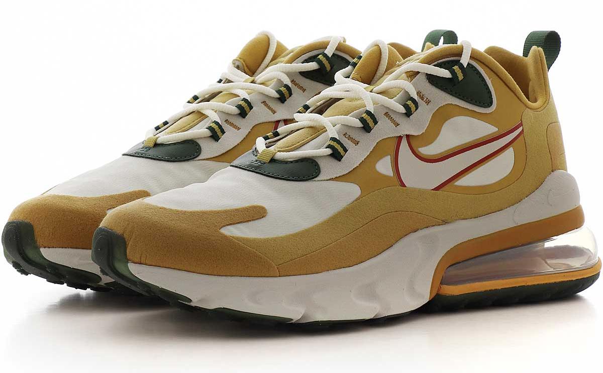 Air Max 270 React Club Gold_Light Bone, sneakers, sale, heren, korting