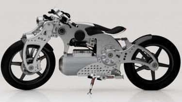 Curtiss Hade 1 Pure E-Bike 1 custom bike, Curtiss Hades 1 Pure is de eerste symmetrische elektrische motor