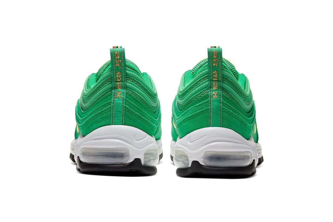 Nike Air Max 97, Olympic Rings Pack, olympische spelen, sneakers, groen, 2
