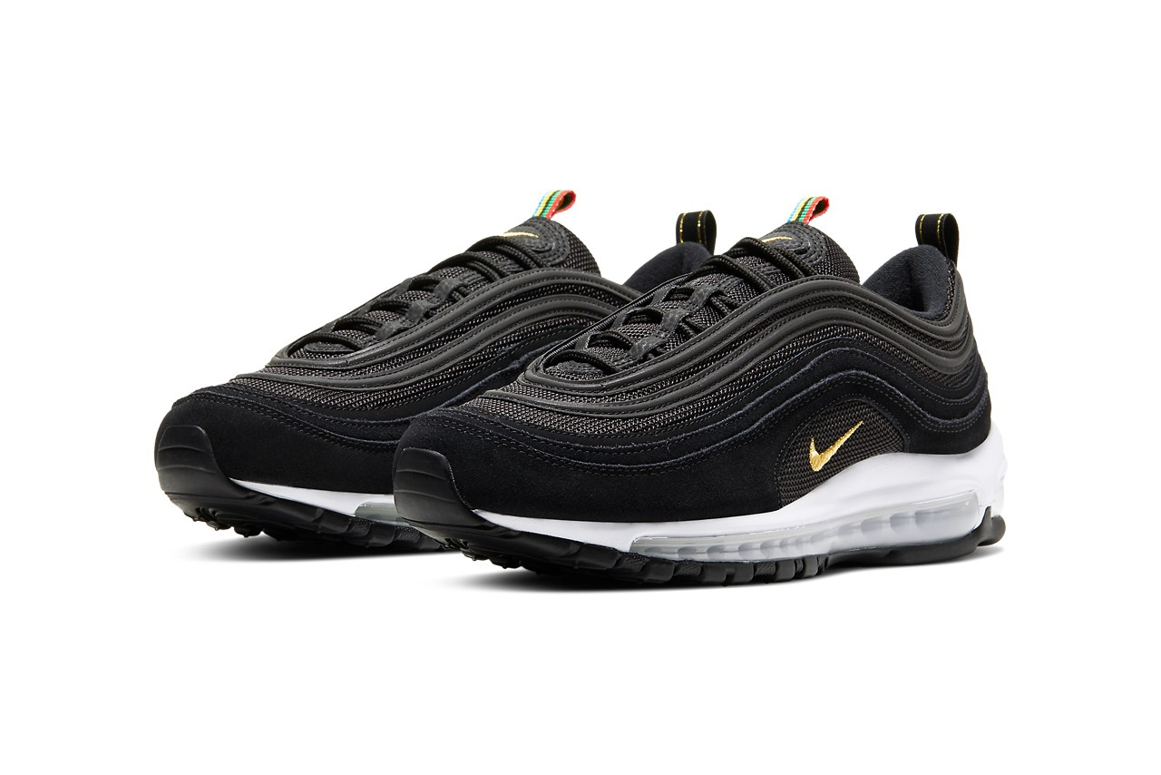 Nike Air Max 97, Olympic Rings Pack, olympische spelen, sneakers, zwart, 2