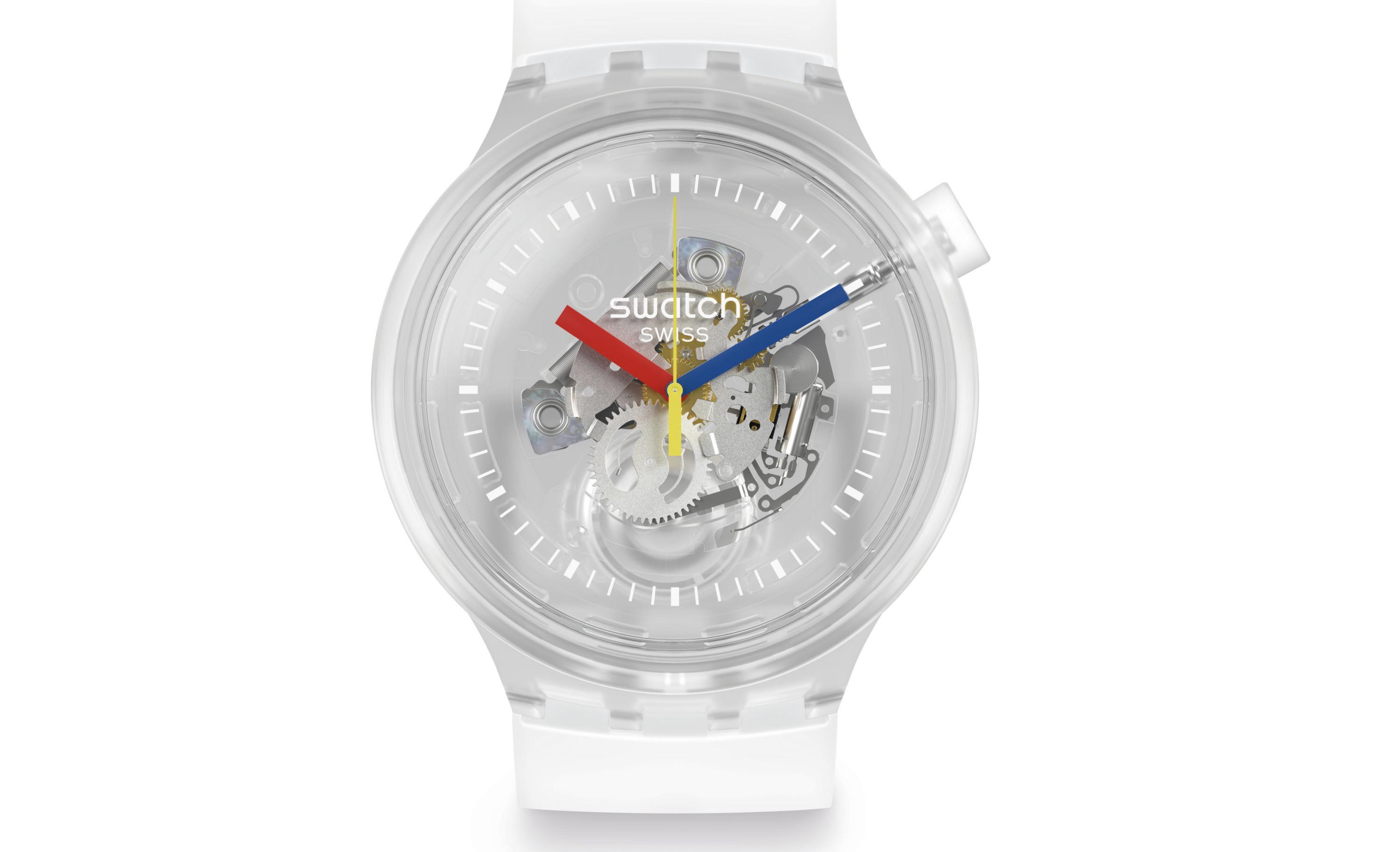 swatch jellyfish bold, transparant horloge