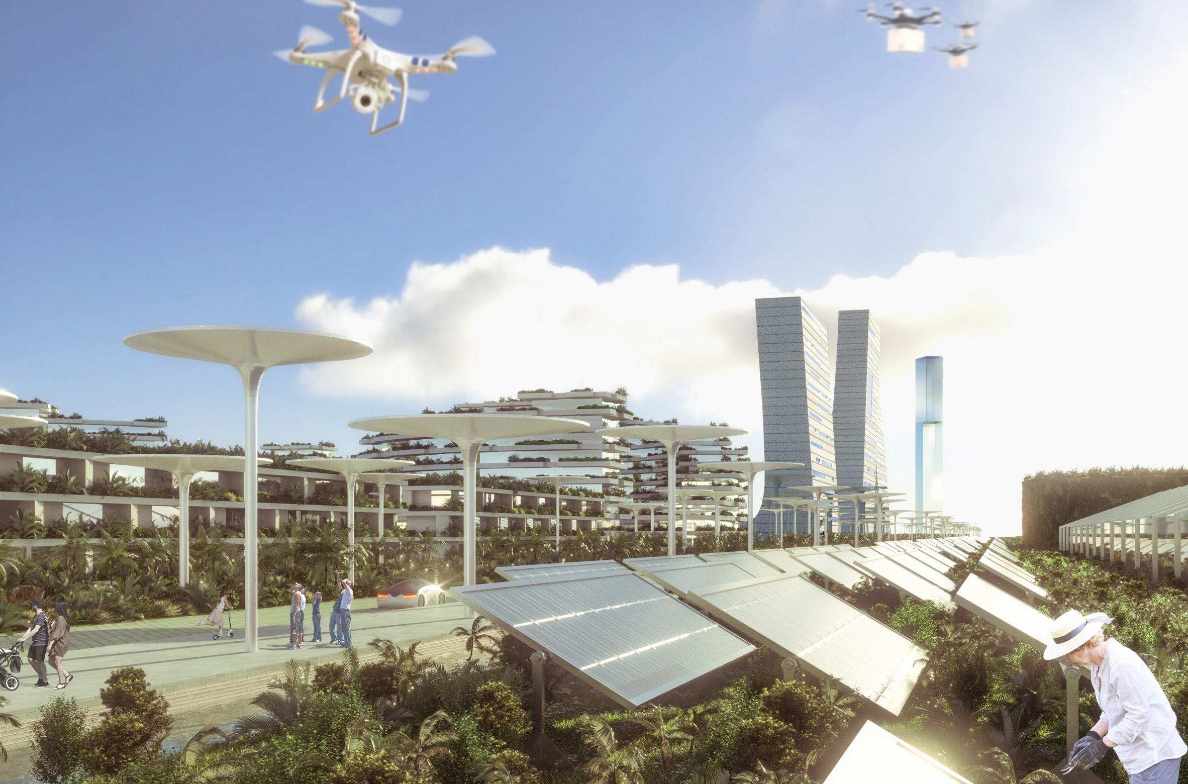 smart forest city, stefano boeri, stad van de toekomst, goren, mexico, cancun, architectuur, 3