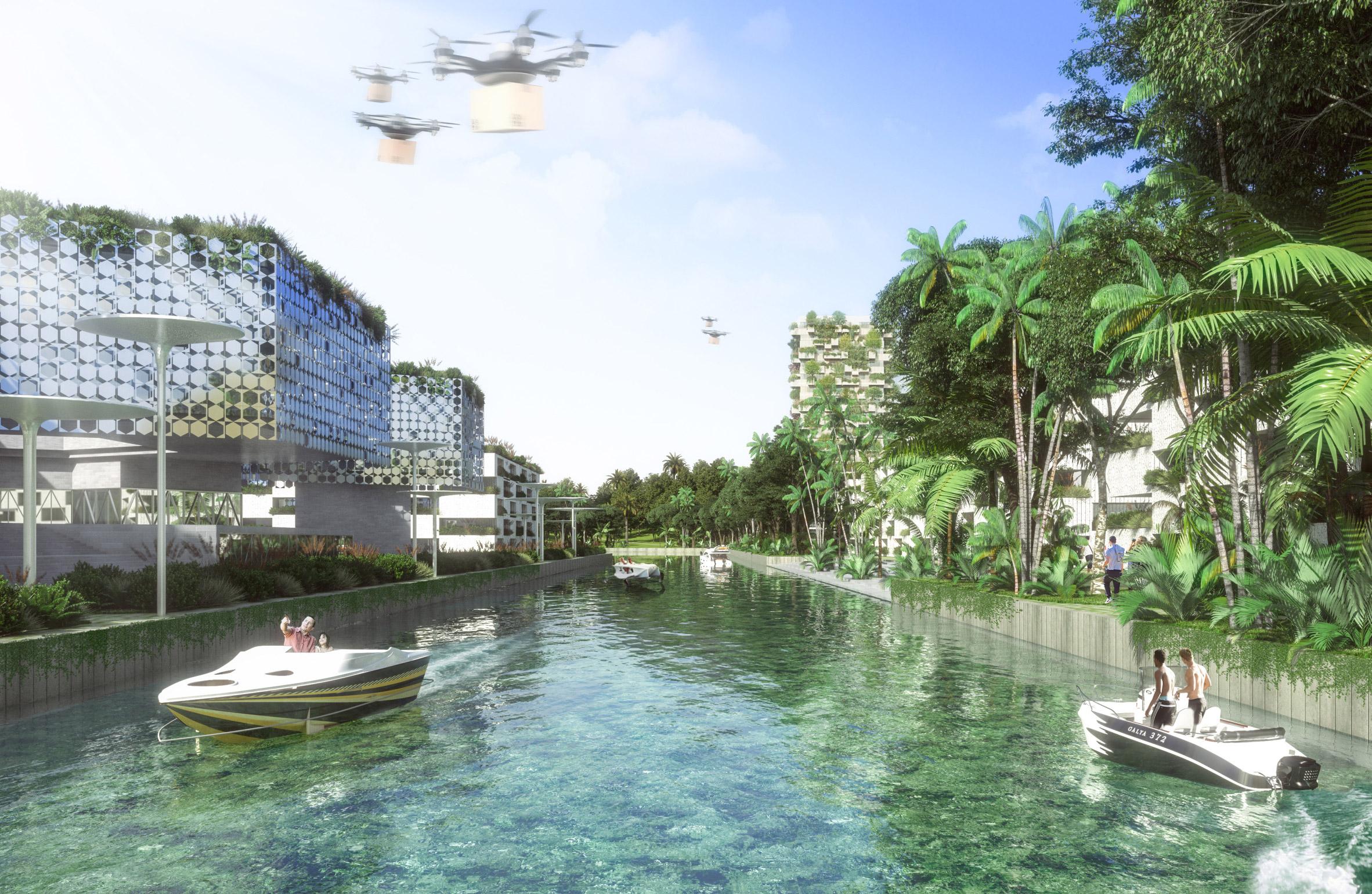 smart forest city, stefano boeri, stad van de toekomst, goren, mexico, cancun, architectuur, 4