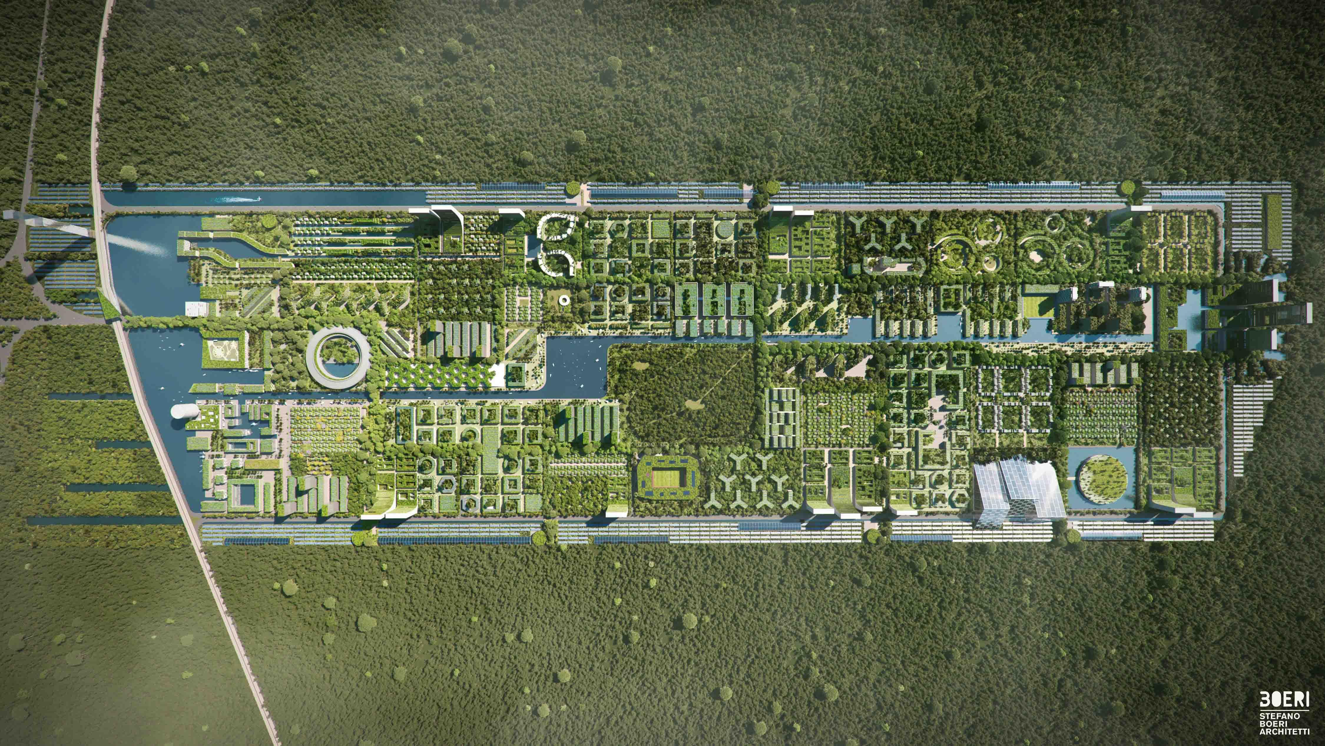 smart forest city, stefano boeri, stad van de toekomst, goren, mexico, cancun, architectuur
