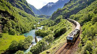 trein, flam railway, noorwegen, treinreis, europa, treinreizen, vliegschaamte
