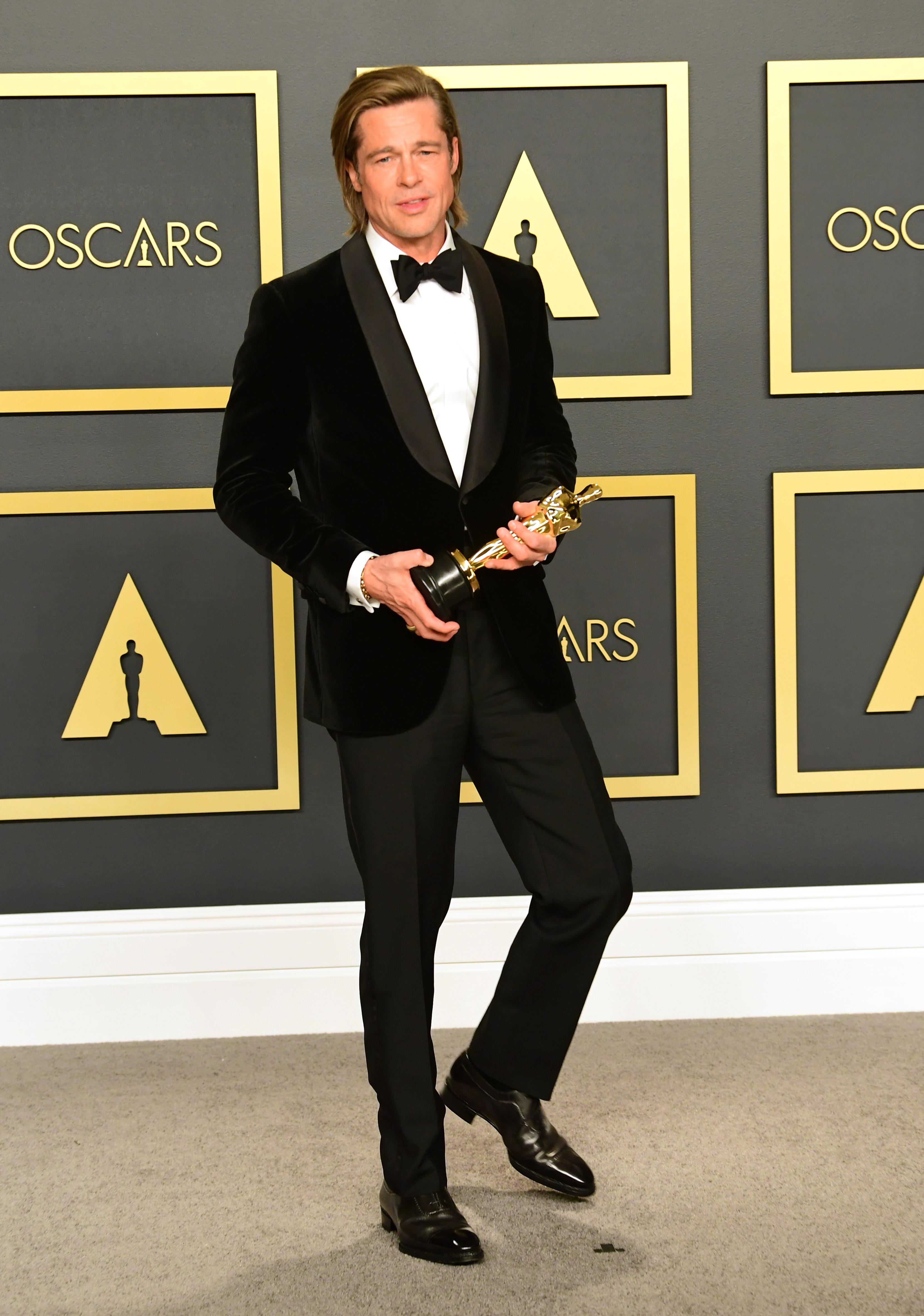 Brad Pitt, Oscars, oscar, best geklede mannen, 2020