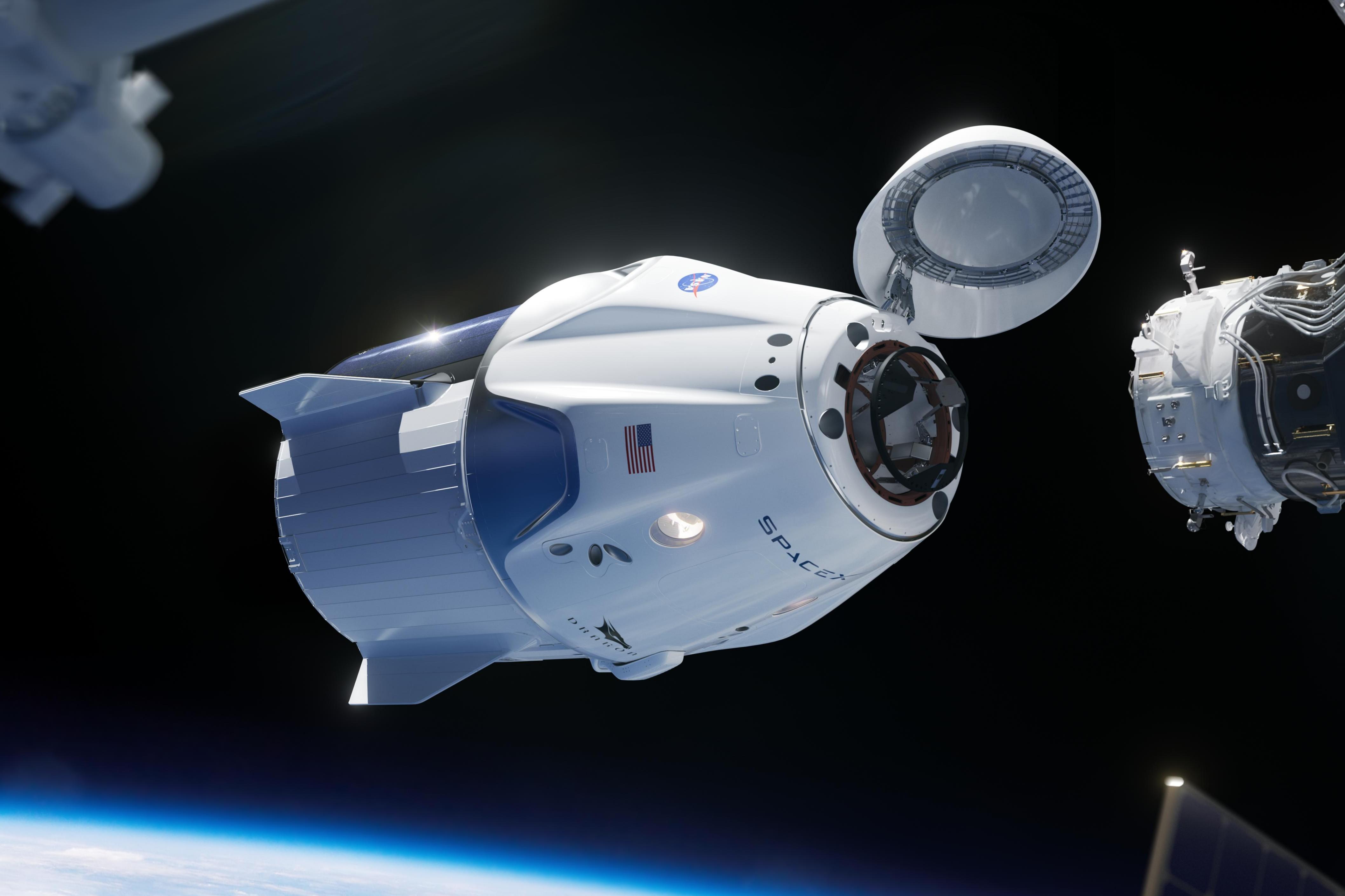 spacex, ruimtetoerisme, crew dragon, ruimte