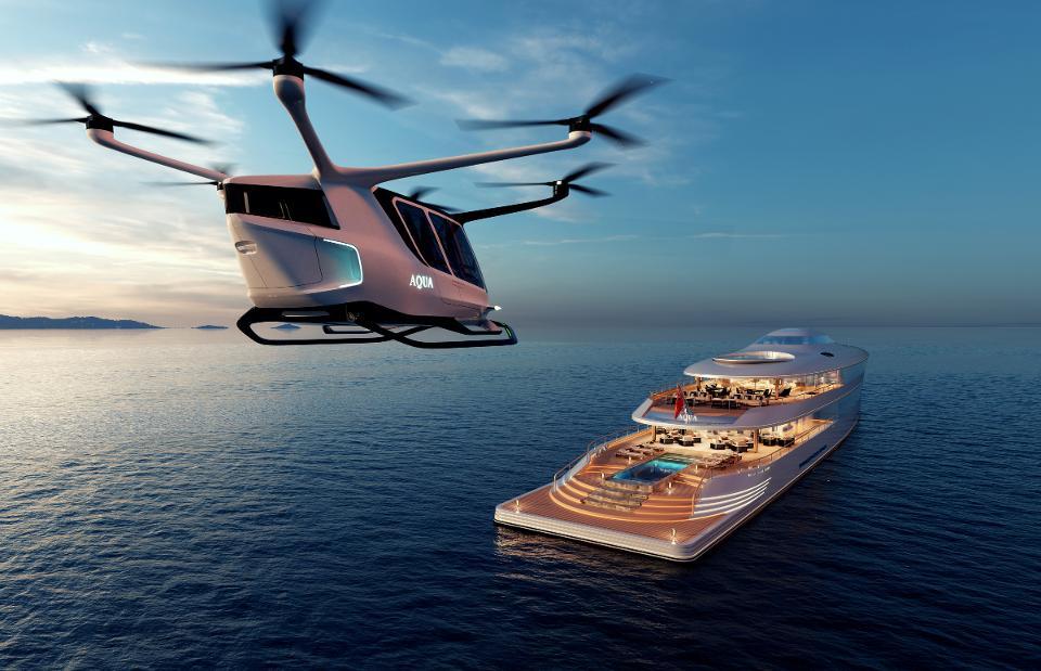 aqua, sinot, jacht, superjacht, waterstof
