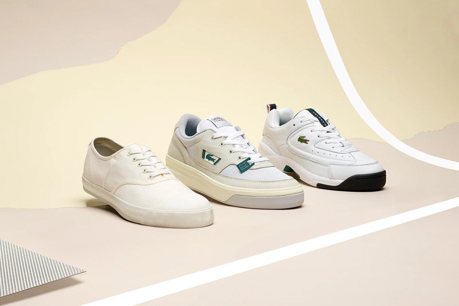 lacoste, rene, tennisschoenen, tennis-sneakers, drie