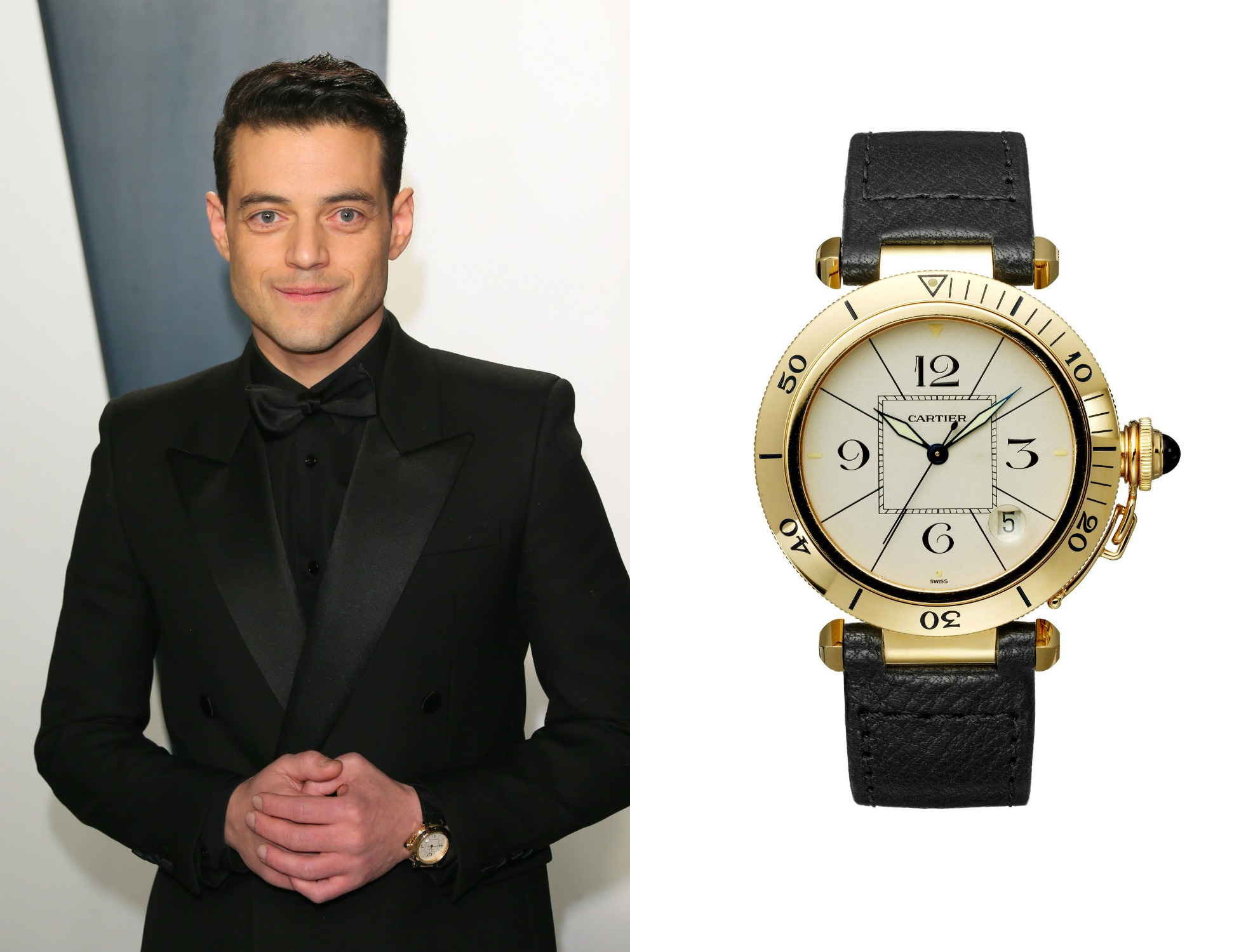 rami malek, horloges, oscars 2020, Pasha de Cartier Collection