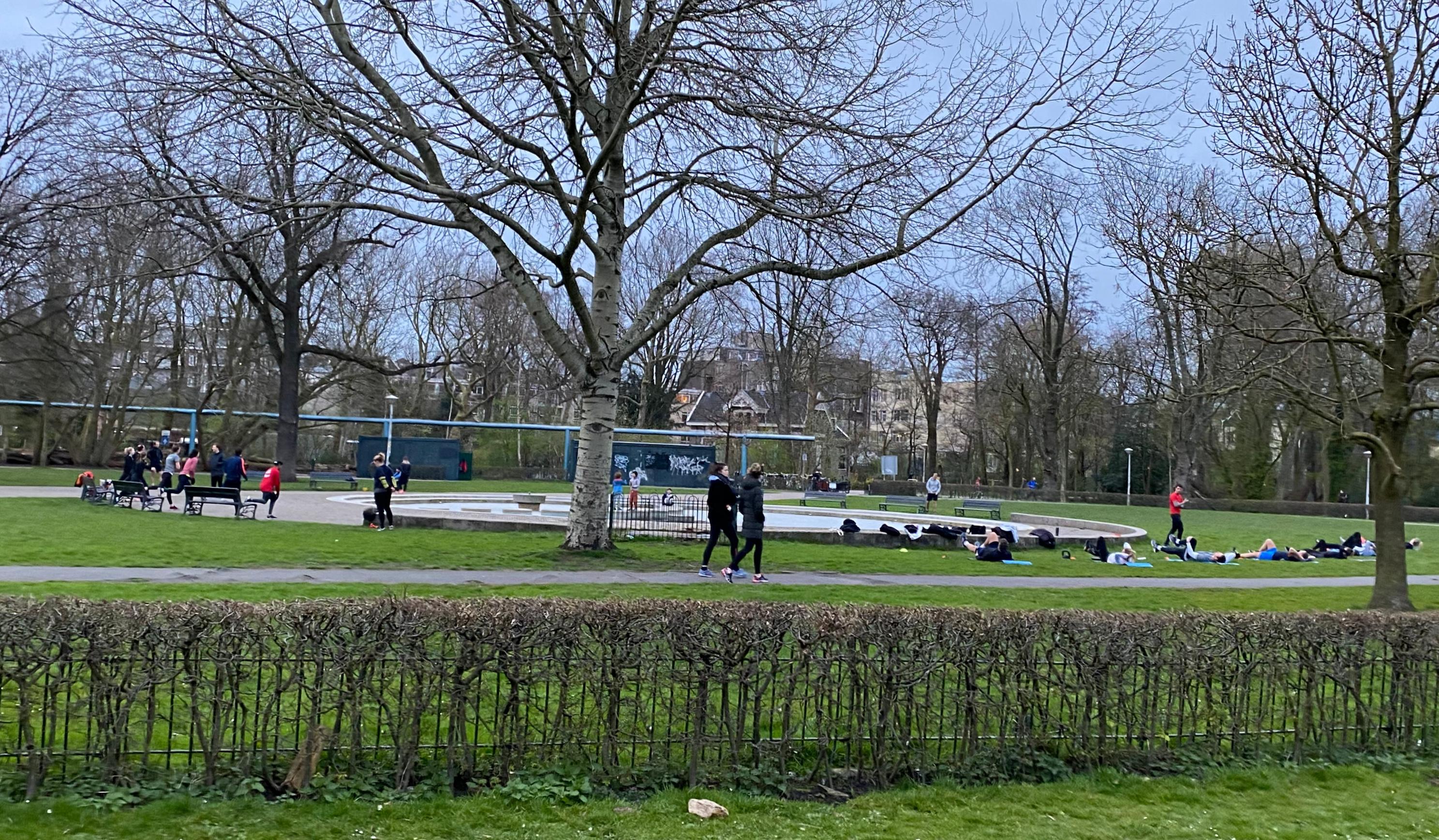 vondelpark, amsterdam, lockdown