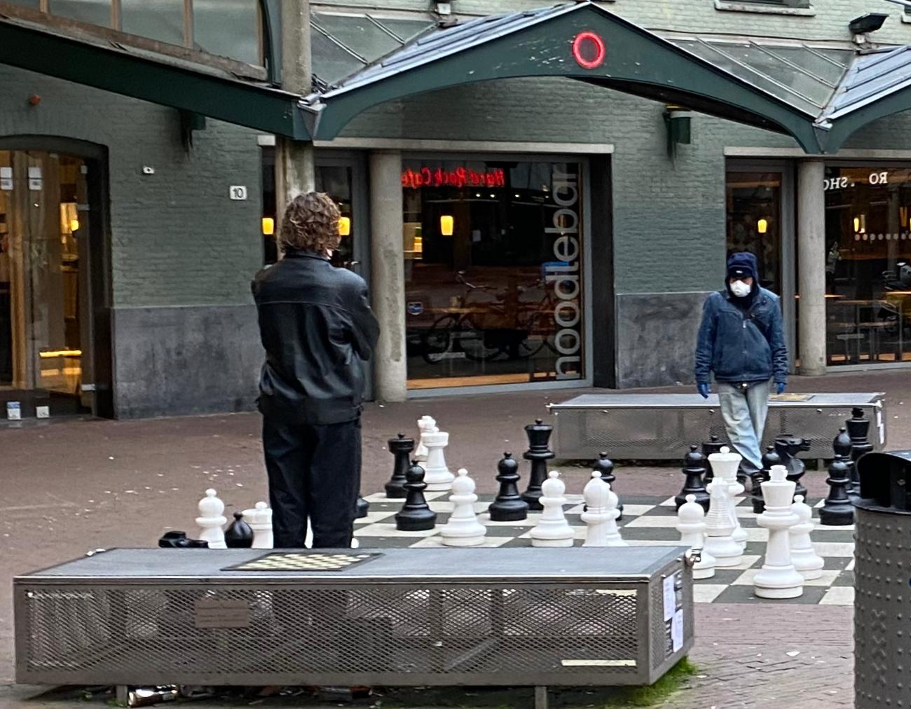 max eeuweplein, amsterdam, schaken, lockdown