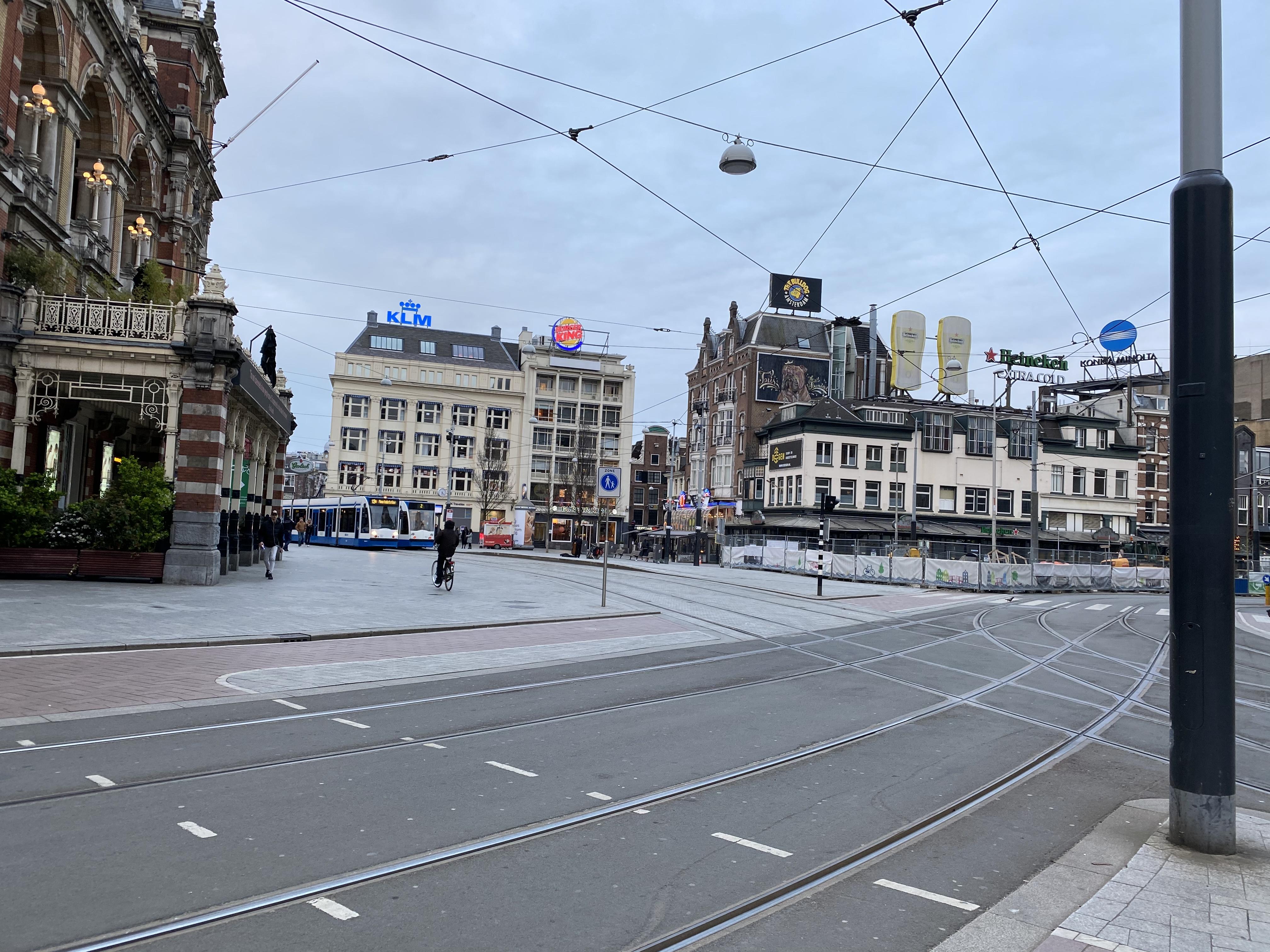 amsterdam, lockdown, leidseplein, fotos