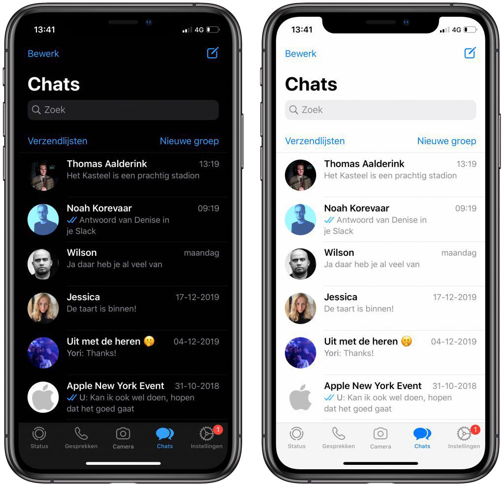 WhatsApp dark mode Android iOS iPhone
