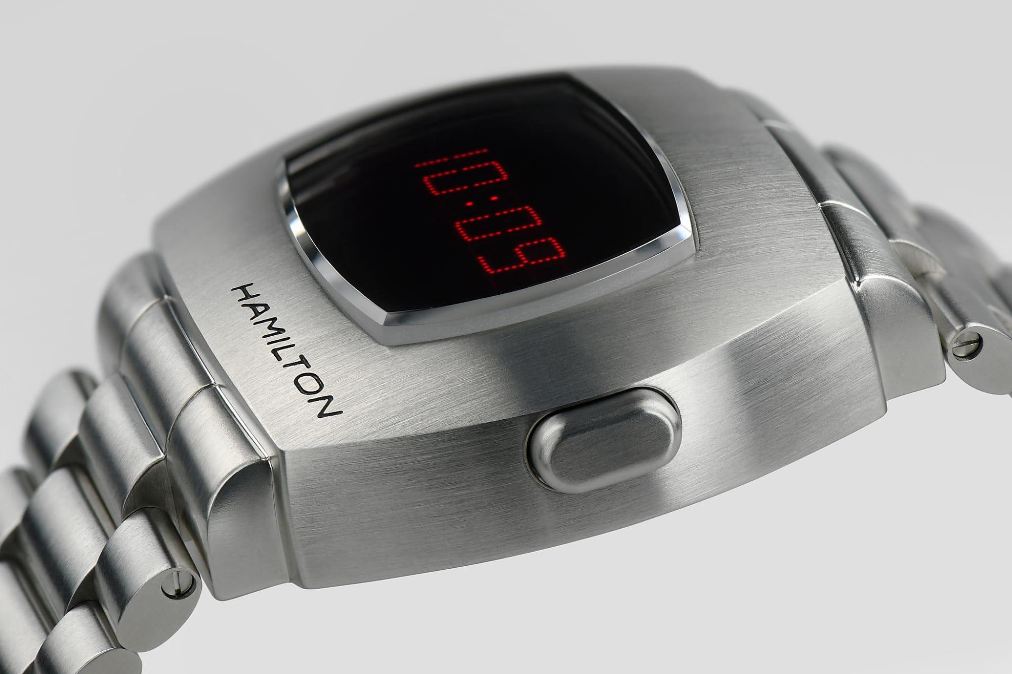 hamilton psr, pulsar, eerste digitale horloge, 1970, heruitgave