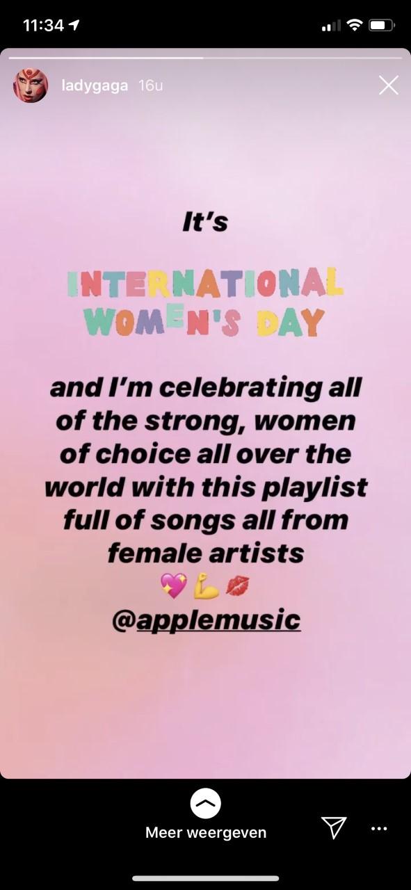 internationale vrouwendag, 2020 lady gaga, celebs, modellen, instagram