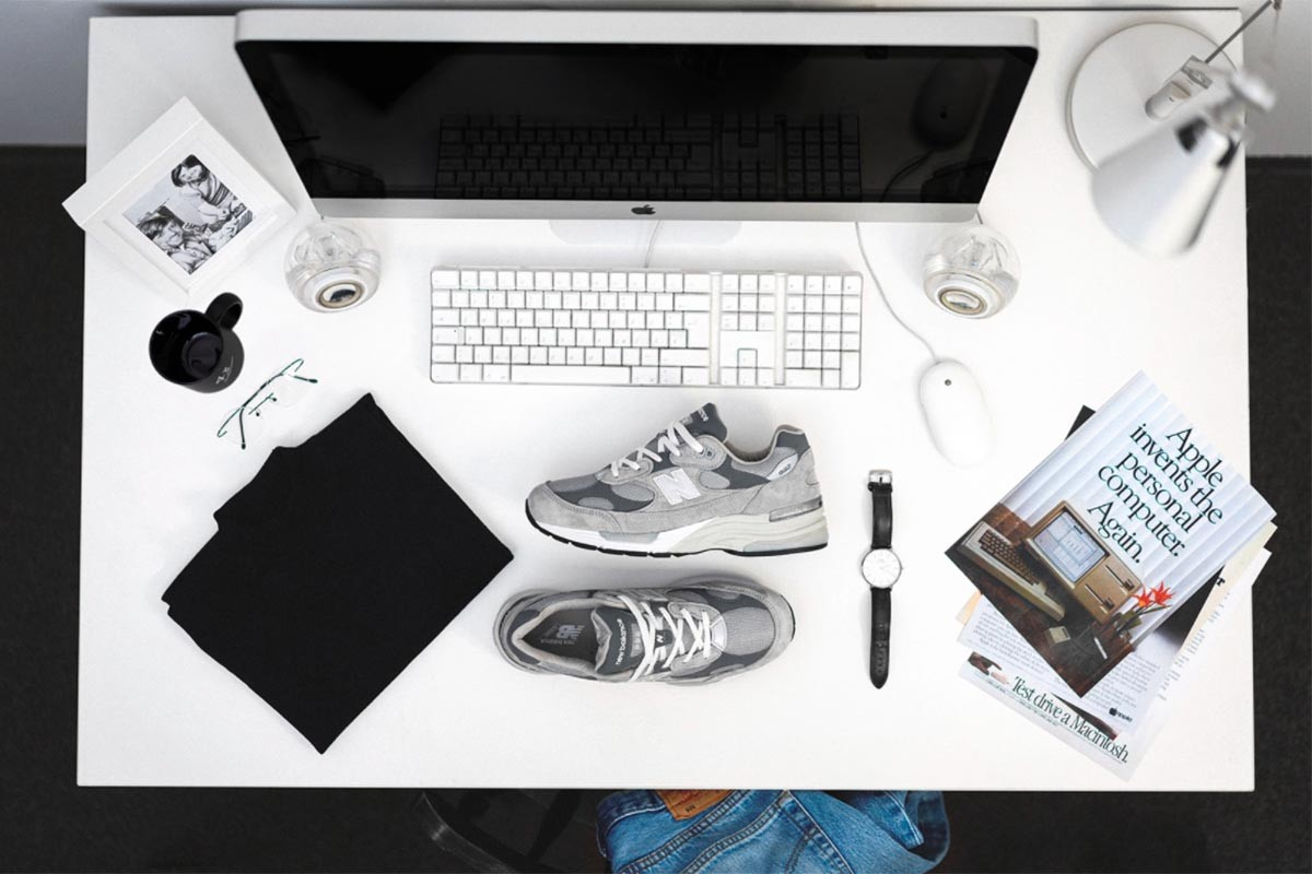 new balance 992, steve jobs, sneakers, apple