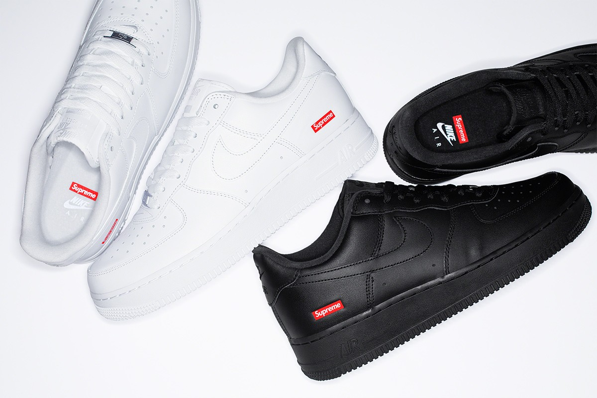 De Nike Air Force 1 x Supreme sneakers zijn betaalbare
