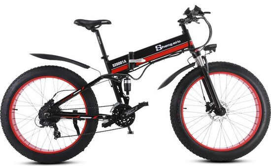 elektrische fiets, fat tire e-bike, bol com