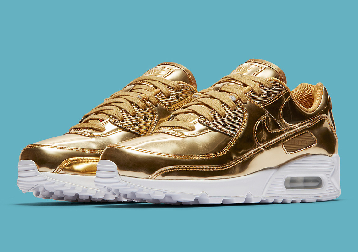 Nike dropt metallic gouden Air Max 90 sneakers Manners