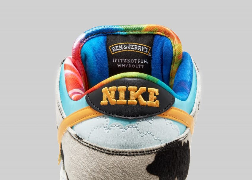 nike sneakers, ben & jerry's, chunky dunky