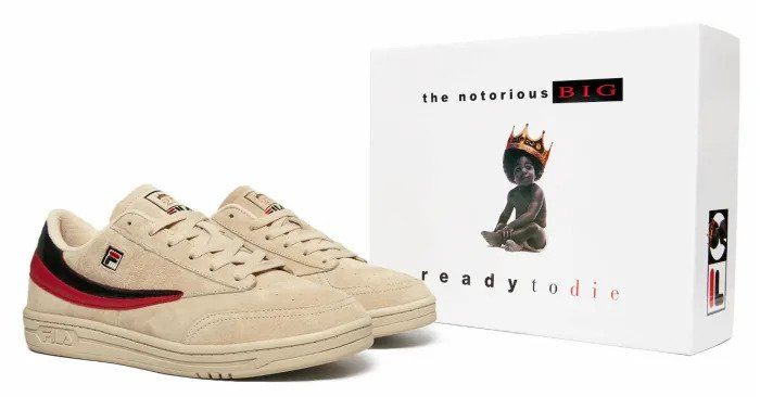 Biggie x FILA Tennis 88, sneakers, the notorious big, ready to die