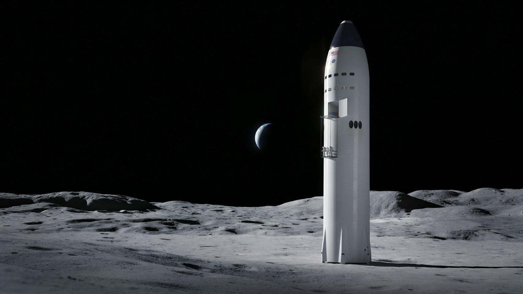 nasa, elon musk, starship, spacex, maanlander, eerste vrouw op de maan