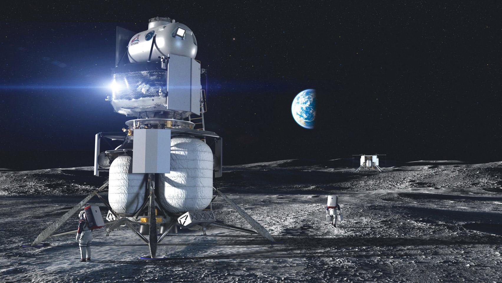 nasa, jeff bezos, blue origin, artemis, eerste vrouw op de maan