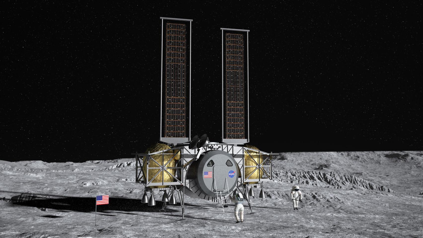 dynetics, maanlander, elon musk, eerste vrouw op de maan