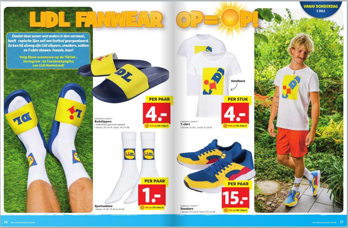 Lidl fanwear sneakers