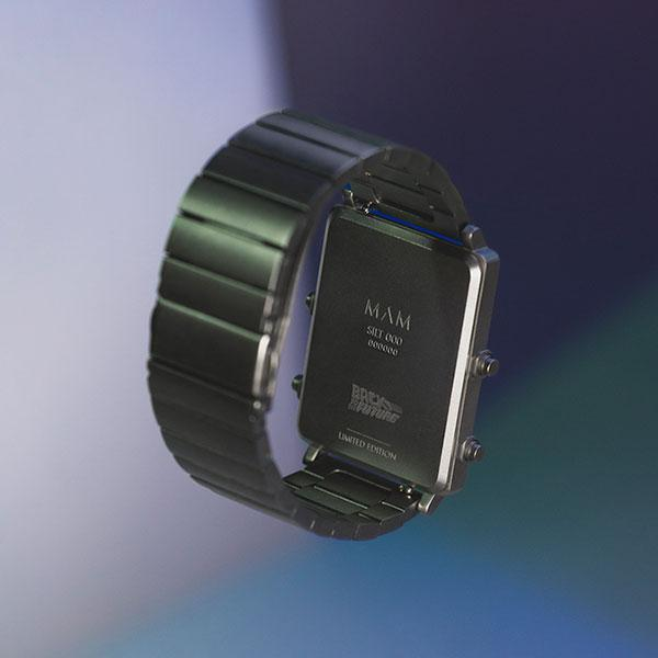 back to the future, horloge, mam originals, staal, delorean
