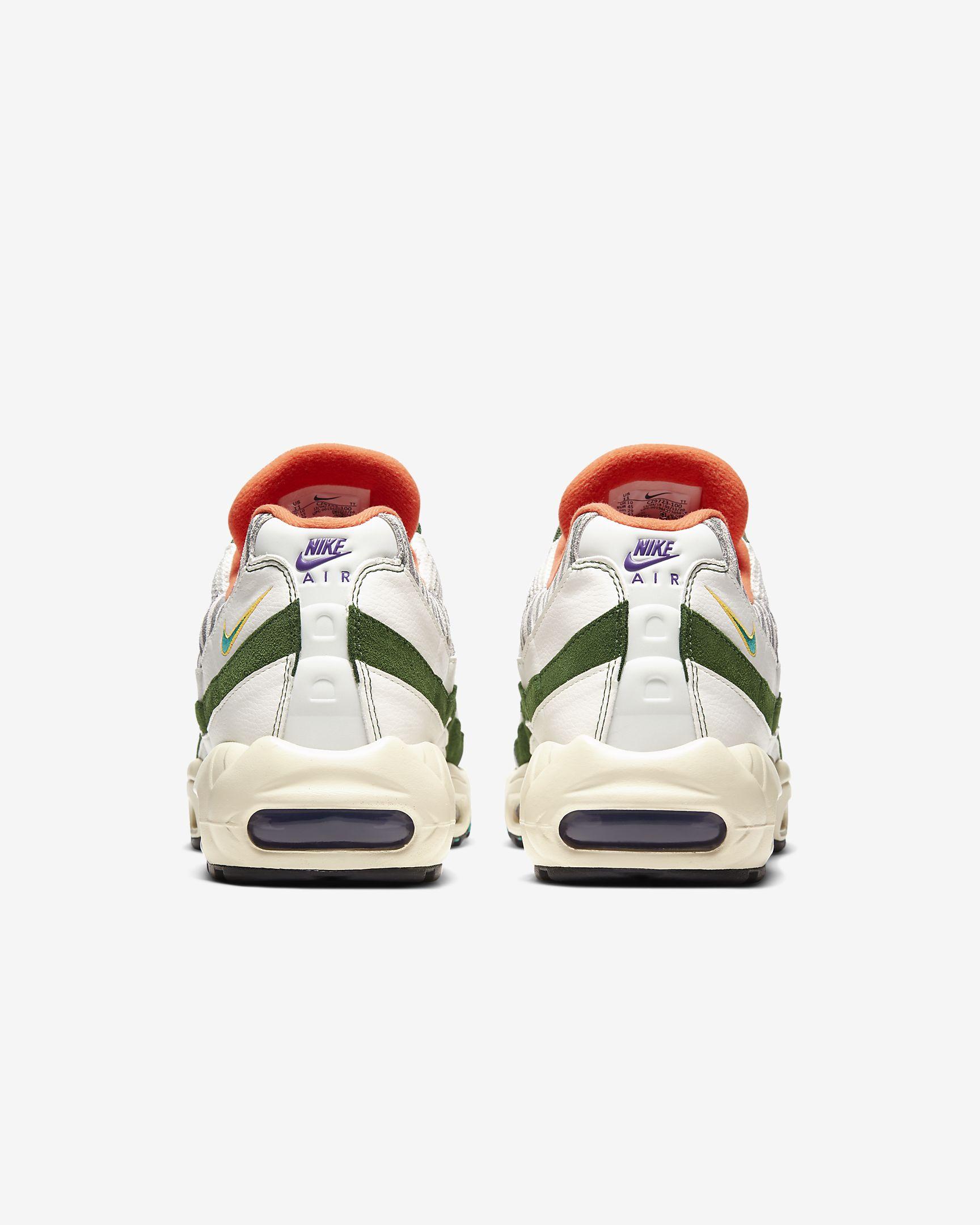 nike air max 95 era, sneakers, dierenprint, achterkant