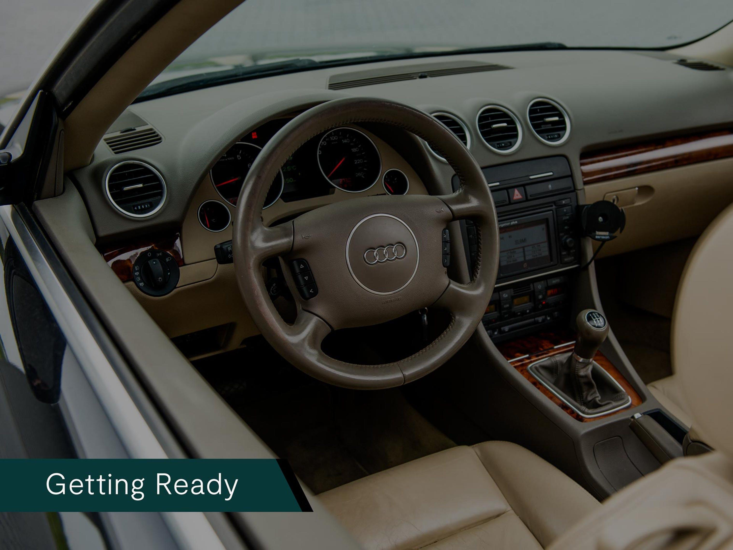 Audi A4 Cabriolet 1.8 Turbo Pro Line, tweedehands, occasion, zeer scherpe prijs, stuur
