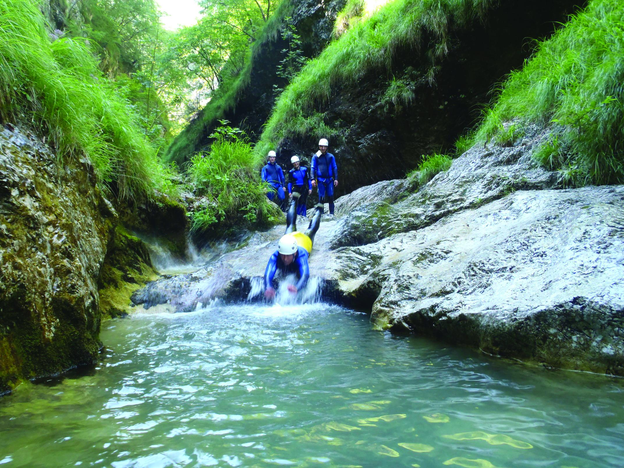 canyoning, Slovenië, paradijs, actieve vakantie