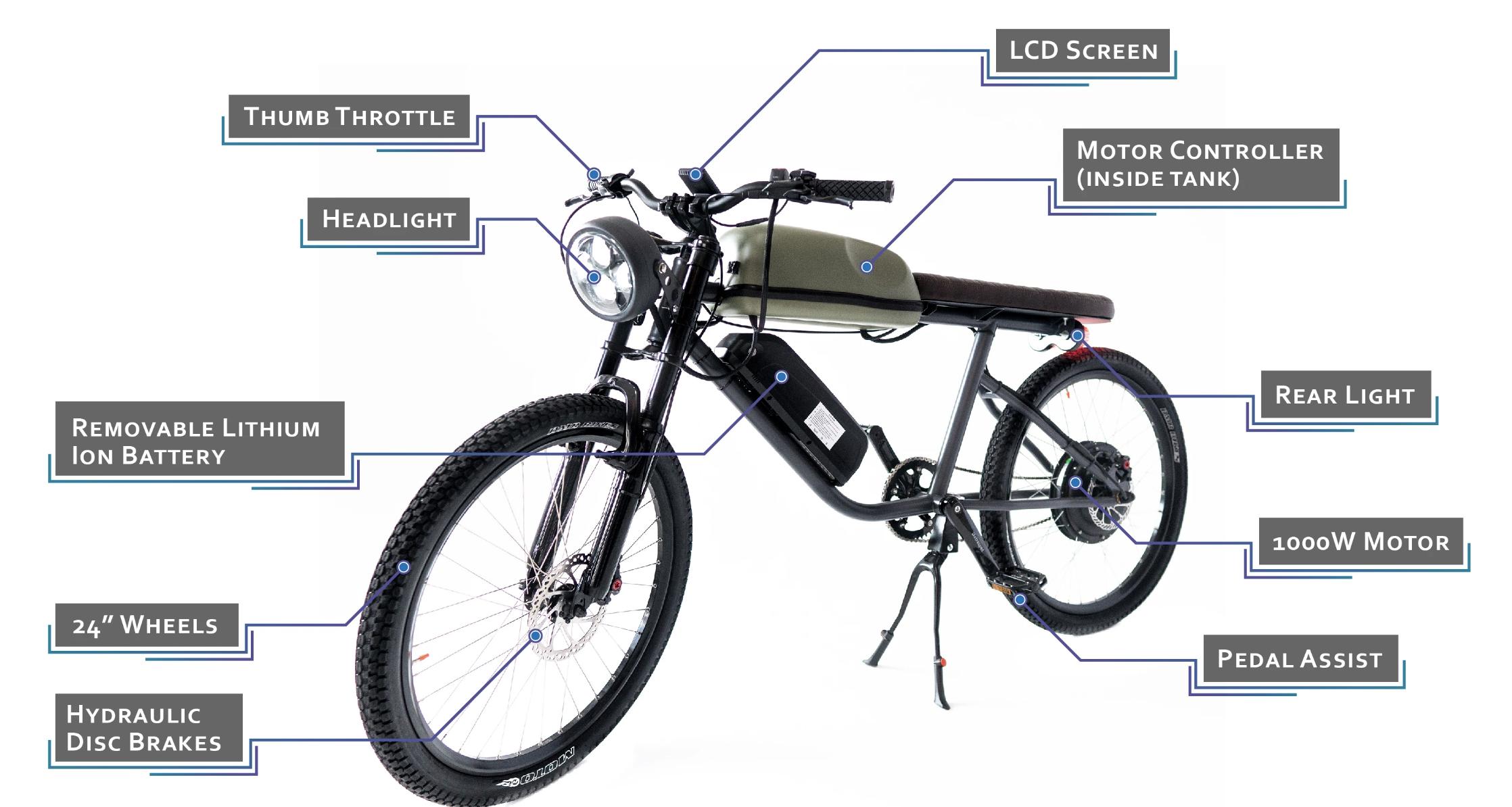elektrische fiets, e-bike, titan r2, retro brommer