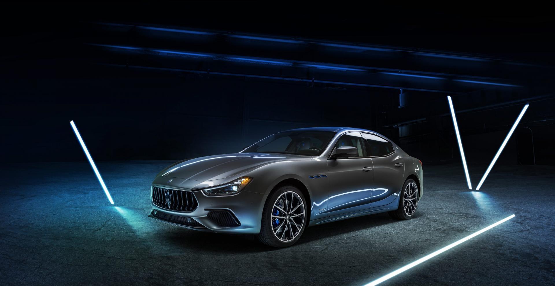maserati ghibli hybrid, 2021, hybride, elektrische auto