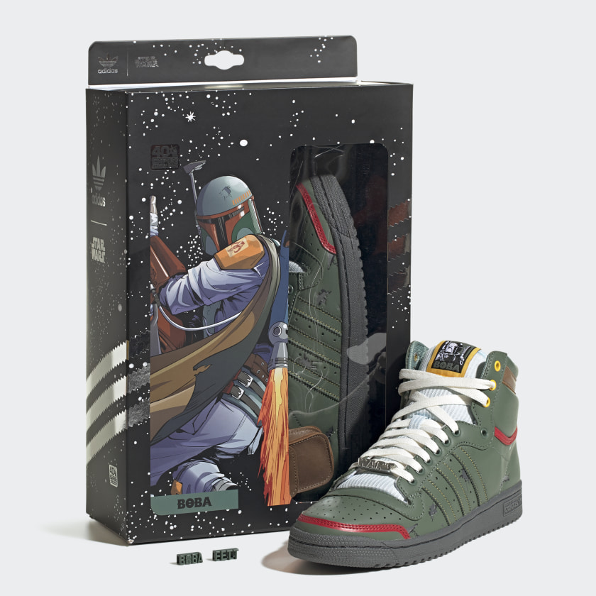 adidas, top ten hi, boba fett, star wars, sneakers