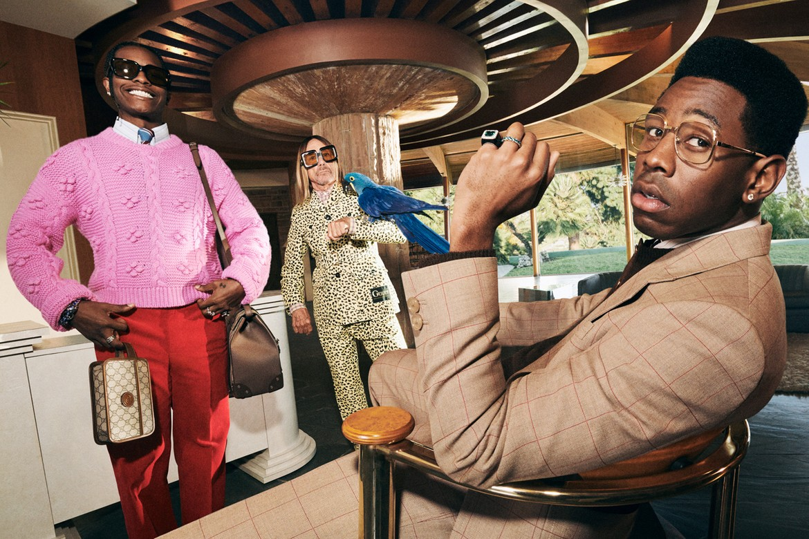 asap rocky, tyler the creator, gucci, campagne