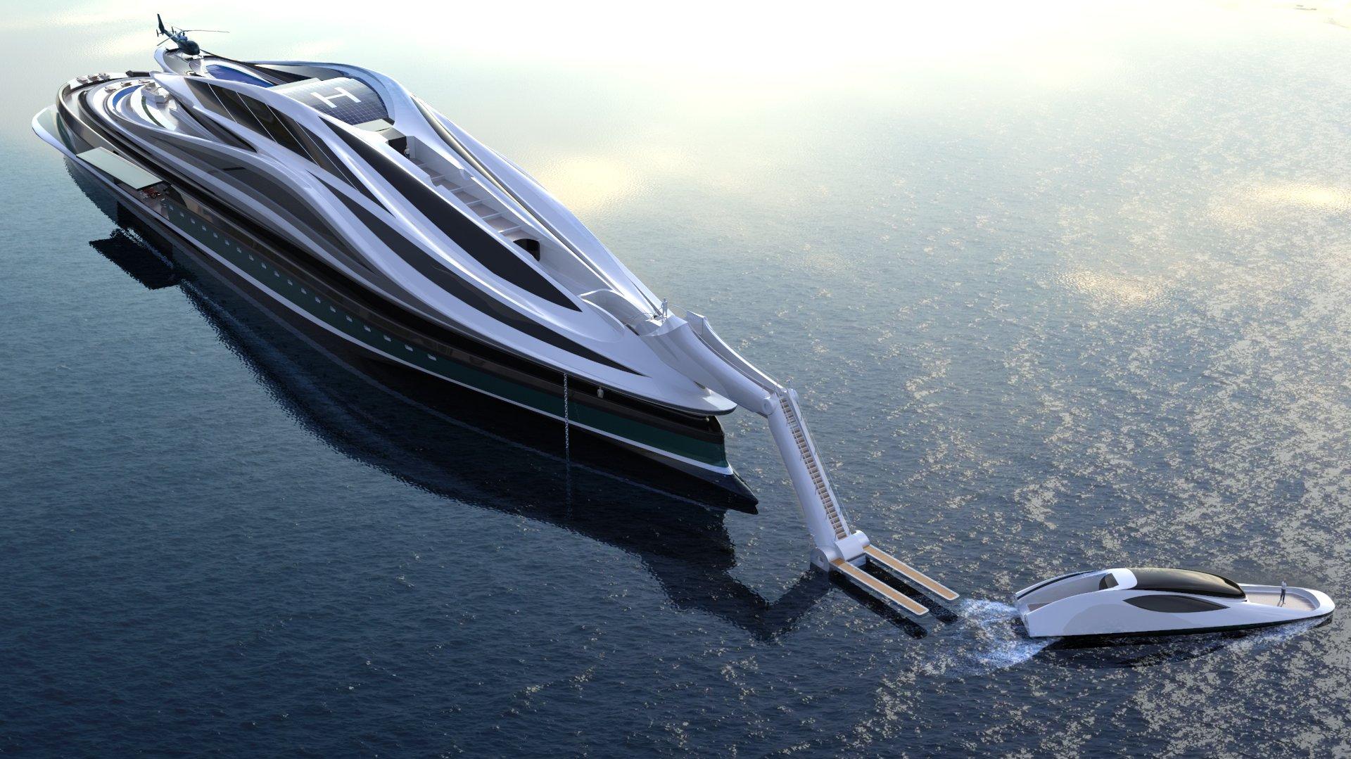 avanguardia, jacht, zwaan, boot, superjacht