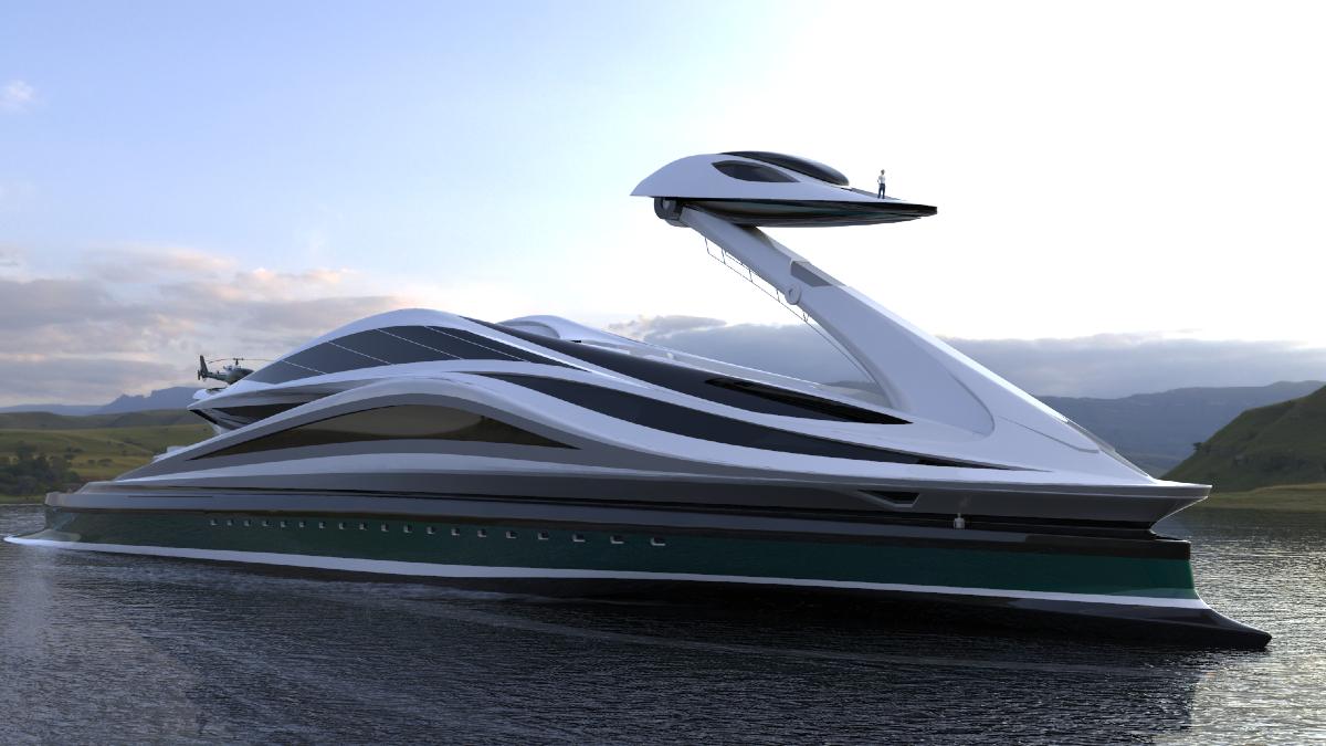 jacht, superjacht, zwaan, lazzarini design studio, avanguardia