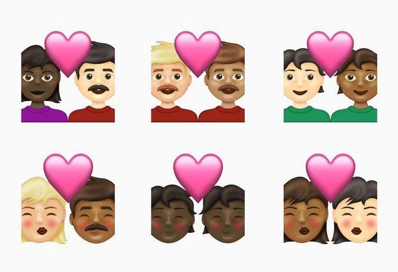 nieuwe emoji, 2021, 2020, verwarring, chaos, diversiteit